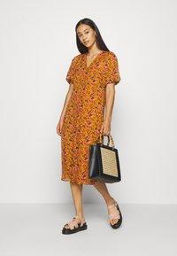 Vero Moda - VMVILDE CALF DRESS - Day dress - buckthorn brown - 1