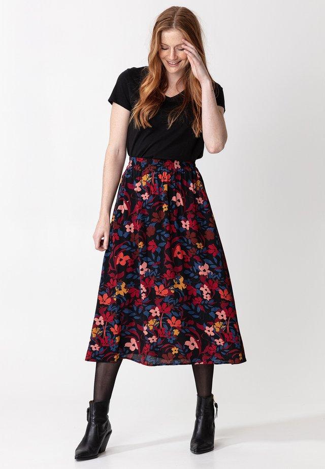 SIBEL - Áčková sukně - black