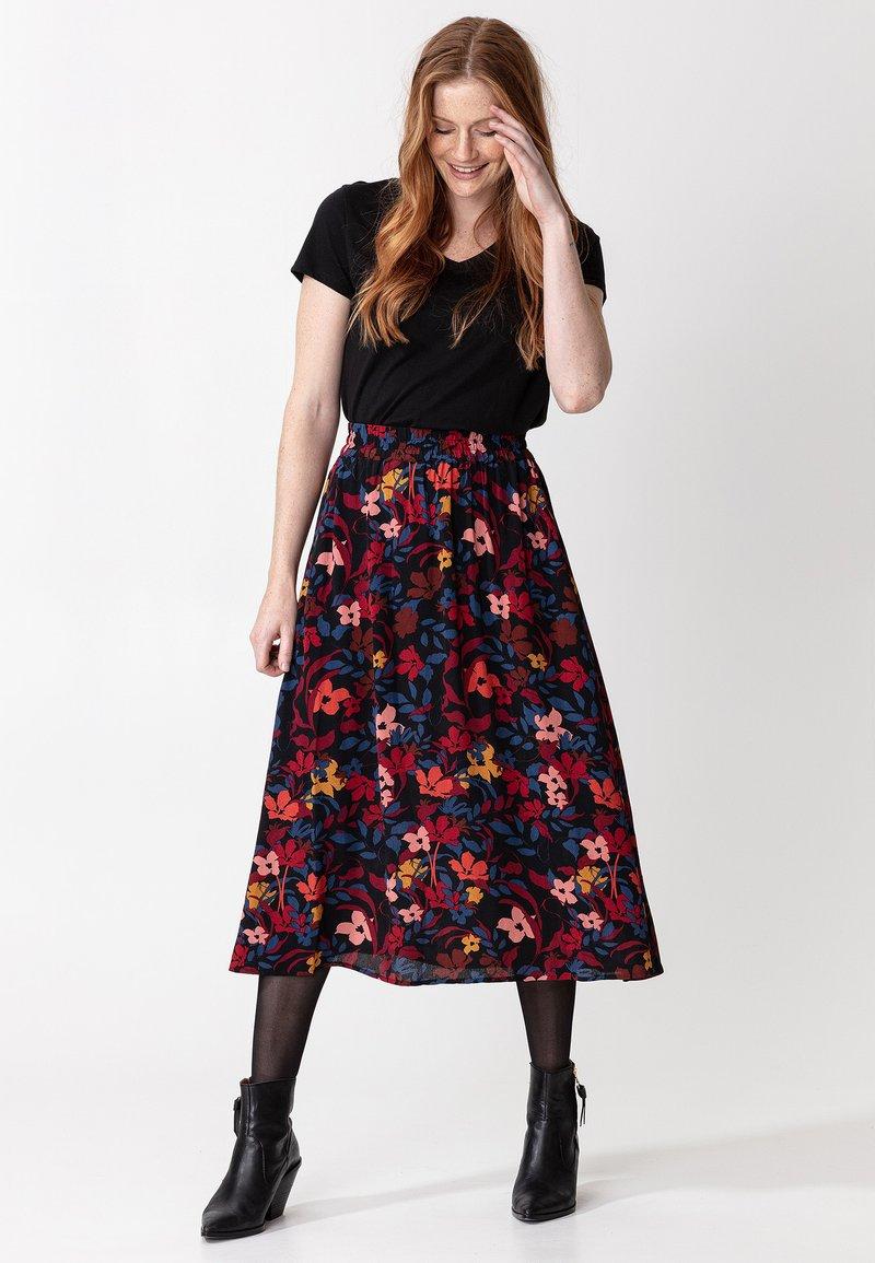 Indiska - SIBEL - A-line skirt - black