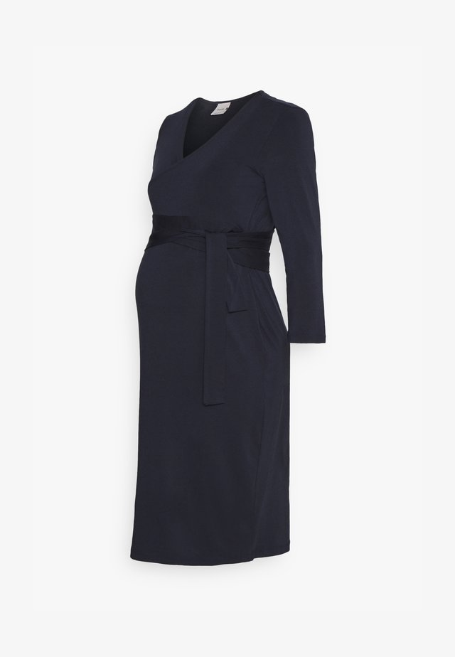 GISELLE WRAP DRESS - Jersey dress - midnight blue