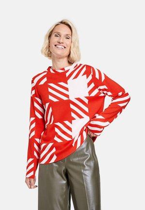 TURTLE KARIERTER  - Sweatshirt - ecru/weiss/rot/orange gemuster