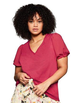 T-shirt print - dunkelpink