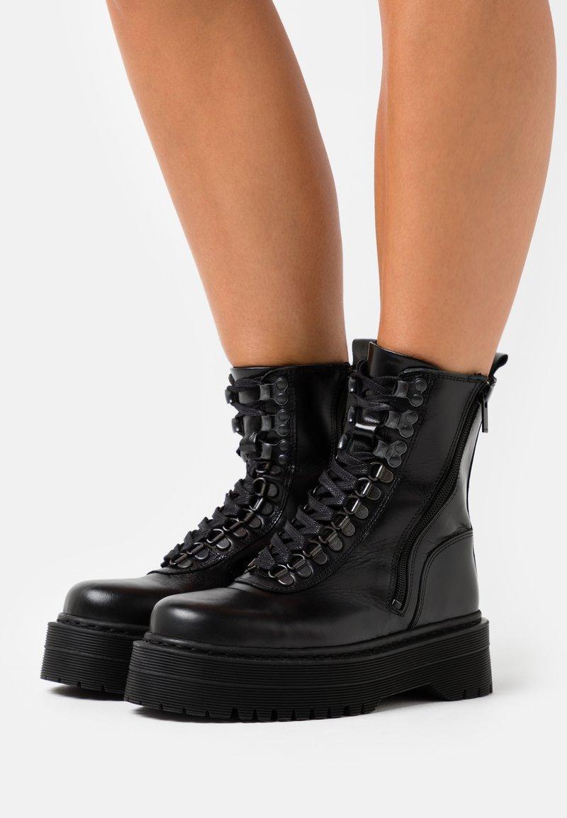 The Kooples - AVEC LOGO AU DOS - Cowboy/biker ankle boot - black
