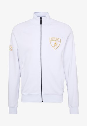 SHIELD LOGO TRACK JACKET - veste en sweat zippée - white