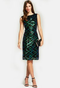 HotSquash - SLEEVELESS SEQUIN - Cocktail dress / Party dress - green - 1