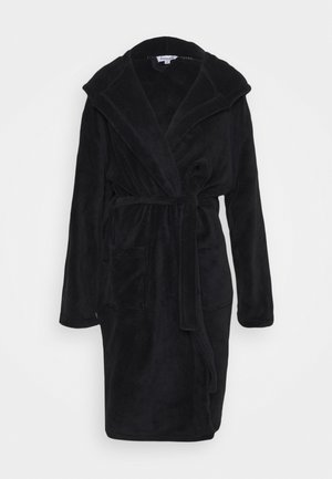 LUXURY HOODED ROBE - Badjas - black