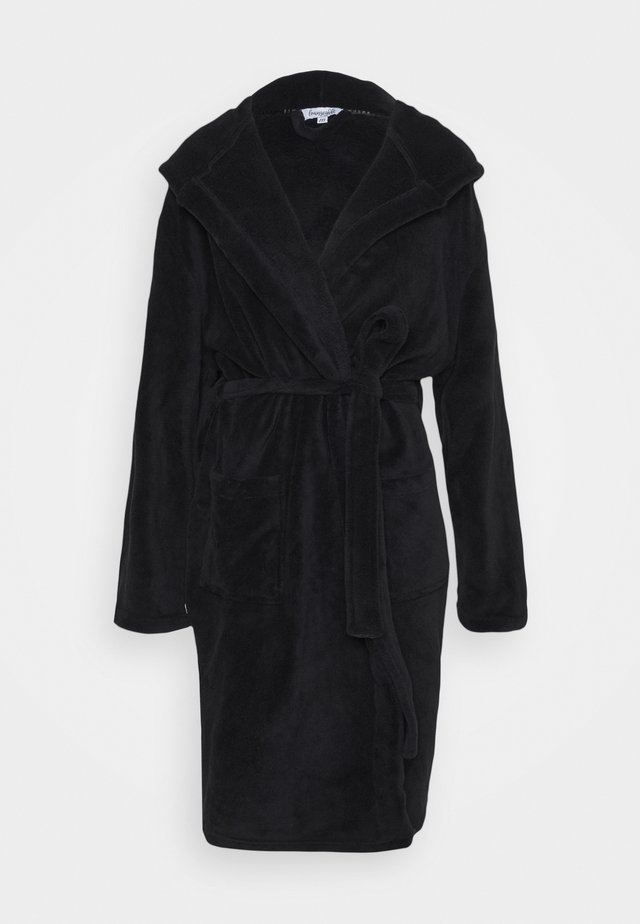 LUXURY HOODED ROBE - Peignoir - black
