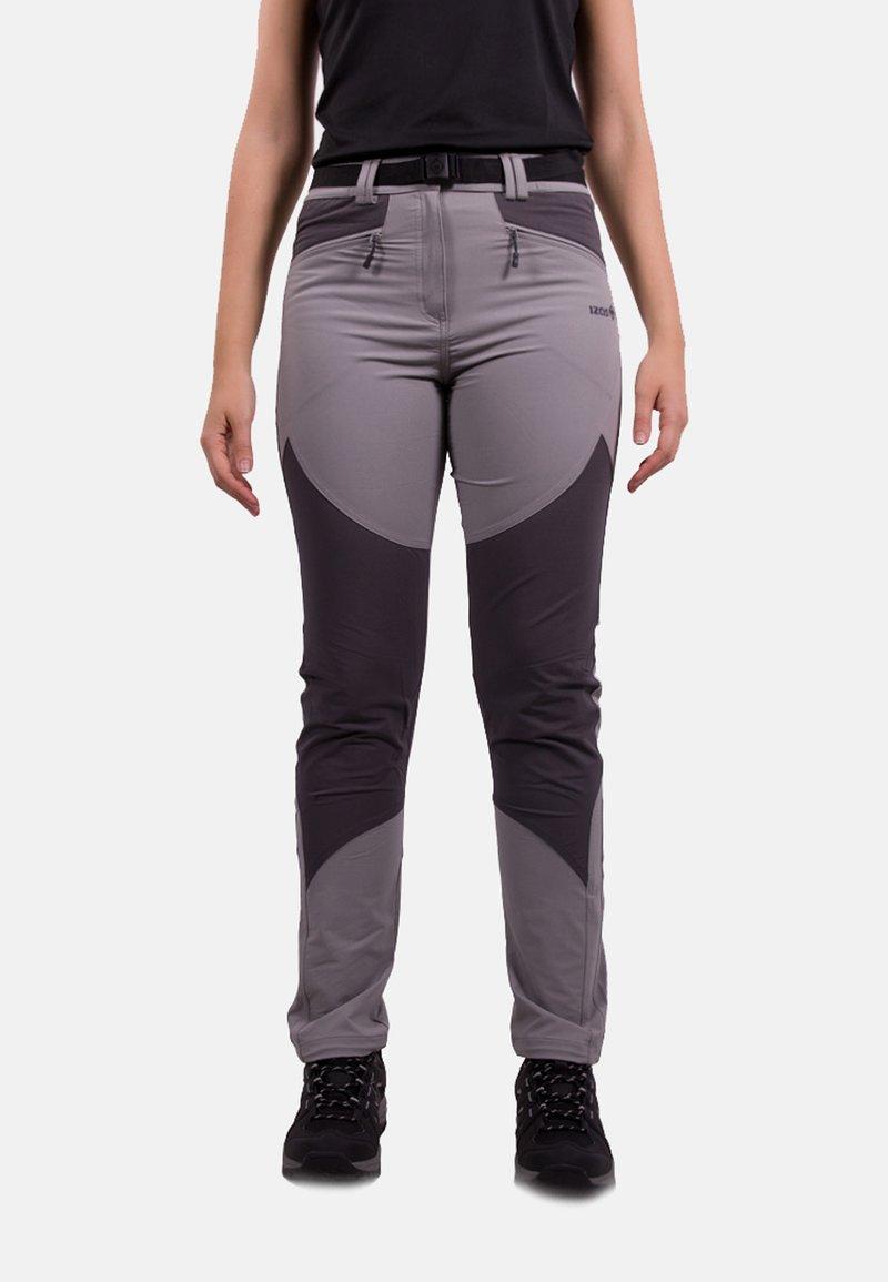 IZAS - Tracksuit bottoms - grey/dark grey