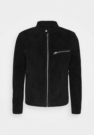 ICON CAFE RACER JACKET - Leather jacket - black