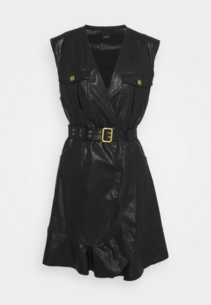 ATTIVO ABITO SIMILPELLE - Day dress - black