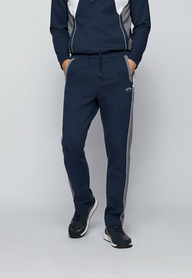 BOSS - SAGGY  - Sweater met rits - dark blue