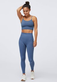 OYSHO - SEAMLESS - Legginsy - dark blue - 1