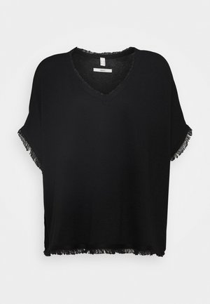PONCHO CROP - Cape - black