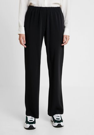 HOYS STRAIGHT PANTS - Bukser - black