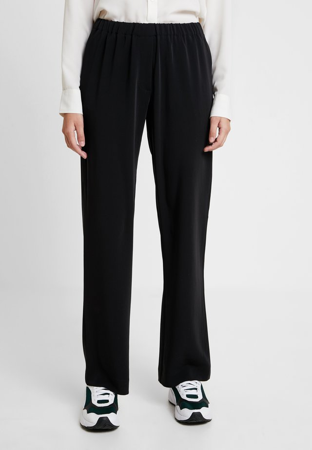 HOYS STRAIGHT PANTS - Trousers - black