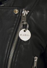 Diesel - L-IGE-NEW-A - Leather jacket - black - 7