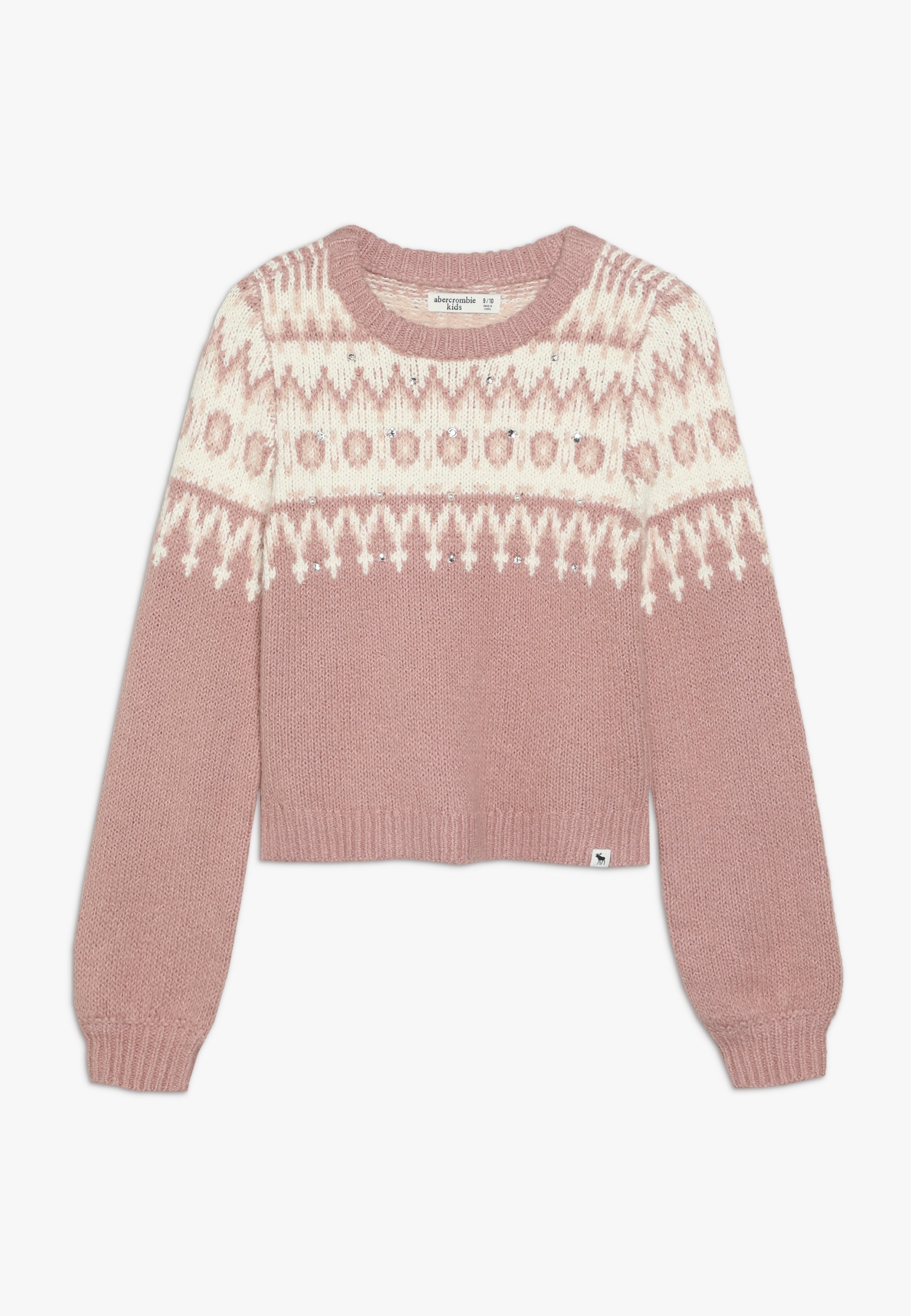 Große Förderung Abercrombie & Fitch CABLE SHINE LAYER - Strickpullover - pink fair isle | Damenbekleidung 2020