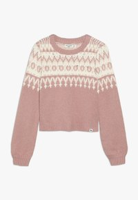 Abercrombie & Fitch - CABLE SHINE LAYER - Svetr - pink fair isle - 0