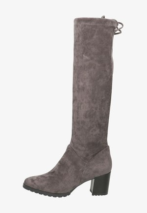 Boots - dk grey stretc