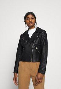 River Island Petite - Faux leather jacket - black - 0