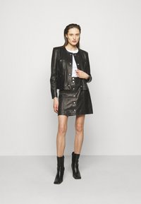 Iro - SKIRT - Kožená sukně - black - 1
