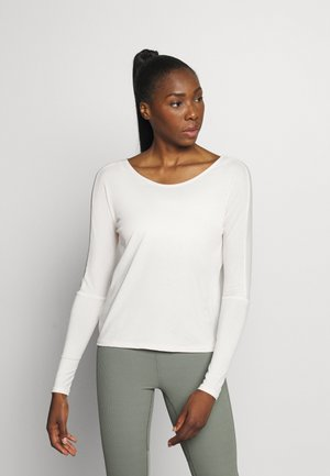 DRAPEY V BACK - Long sleeved top - ivory