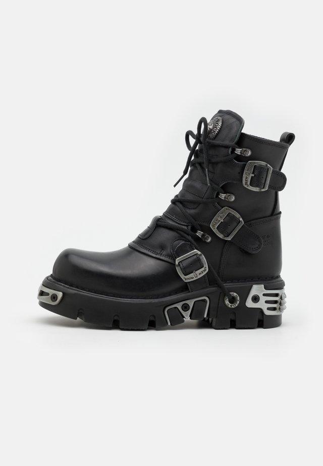 UNISEX - Platform ankle boots - black