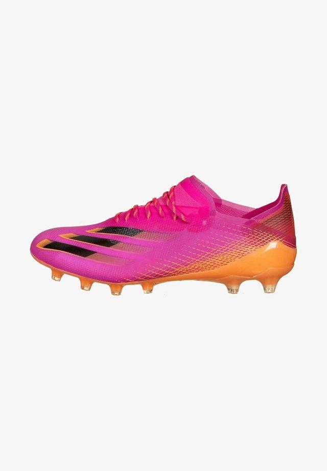 Moulded stud football boots - shock pink / core black / screaming orange