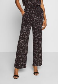 Pieces - PCNIMMA WIDE PANT - Trousers - black - 0