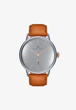 UHR SERENITY NORDIC GRANITE LEATHER 40MM - Horloge - cool grey