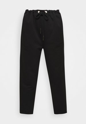 ORGANIC PEARL CORD STOPPER - Tracksuit bottoms - black
