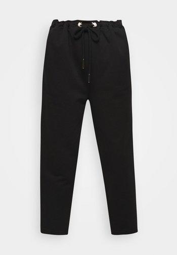 ORGANIC PEARL CORD STOPPER - Pantaloni sportivi - black