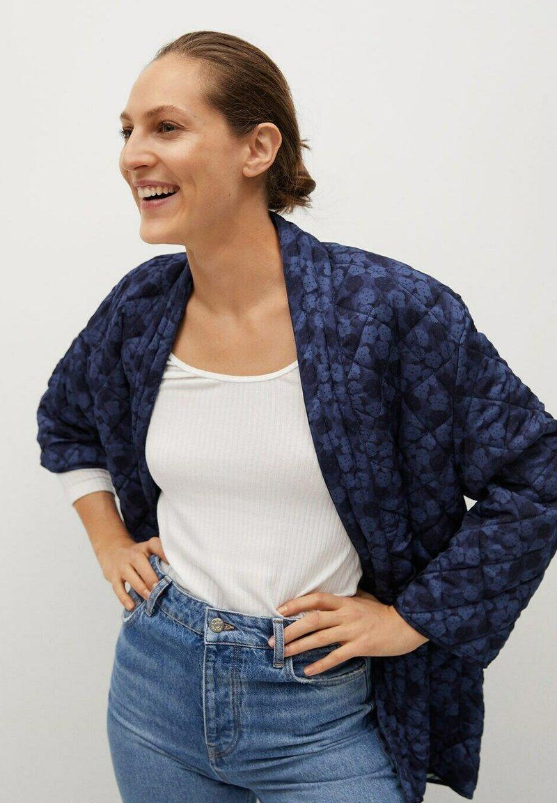 Mango - Winter jacket - bleu marine foncé