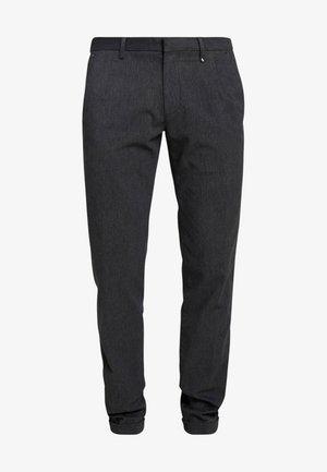 CLEAN WITH TURNUP DARTS  - Trousers - dark grey melange