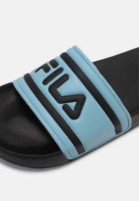 Fila - MORRO BAY - Mules - black/cameo blue - 6