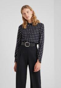 Bruuns Bazaar - BONNE FILIPPA - Button-down blouse - black - 0