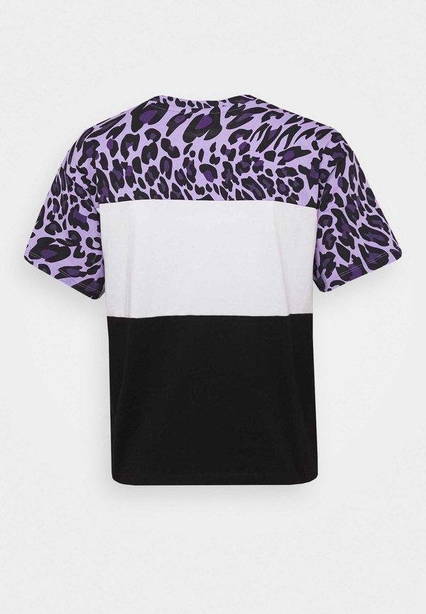 Fila ALLISON TEE - T-shirt z nadrukiem - black/sand verbena/bright white Nadruk zwierzęcy Odzież Damska FZMH AP 6