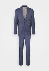 STRETCH GRID CHECK SUIT - Suit - navy