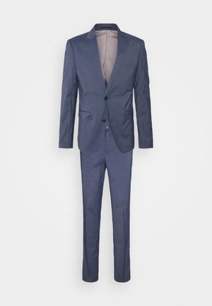 STRETCH GRID CHECK SUIT - Completo - navy