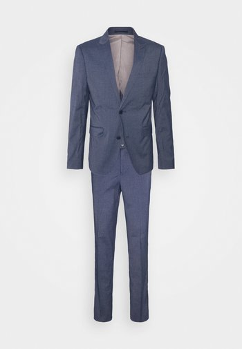 STRETCH GRID CHECK SUIT