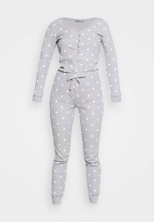 Spot onesie - Pyjama - light grey/white