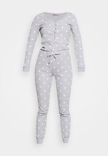 Spot onesie - Pyžamo - light grey/white