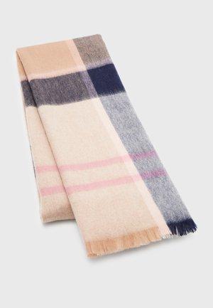 ROSEFIELD TARTAN - Scarf - pink/hessian