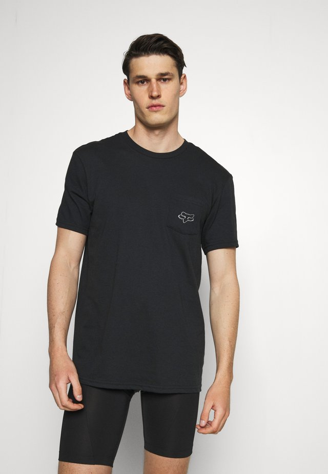 BRONCA POCKET TEE - T-shirts med print - black