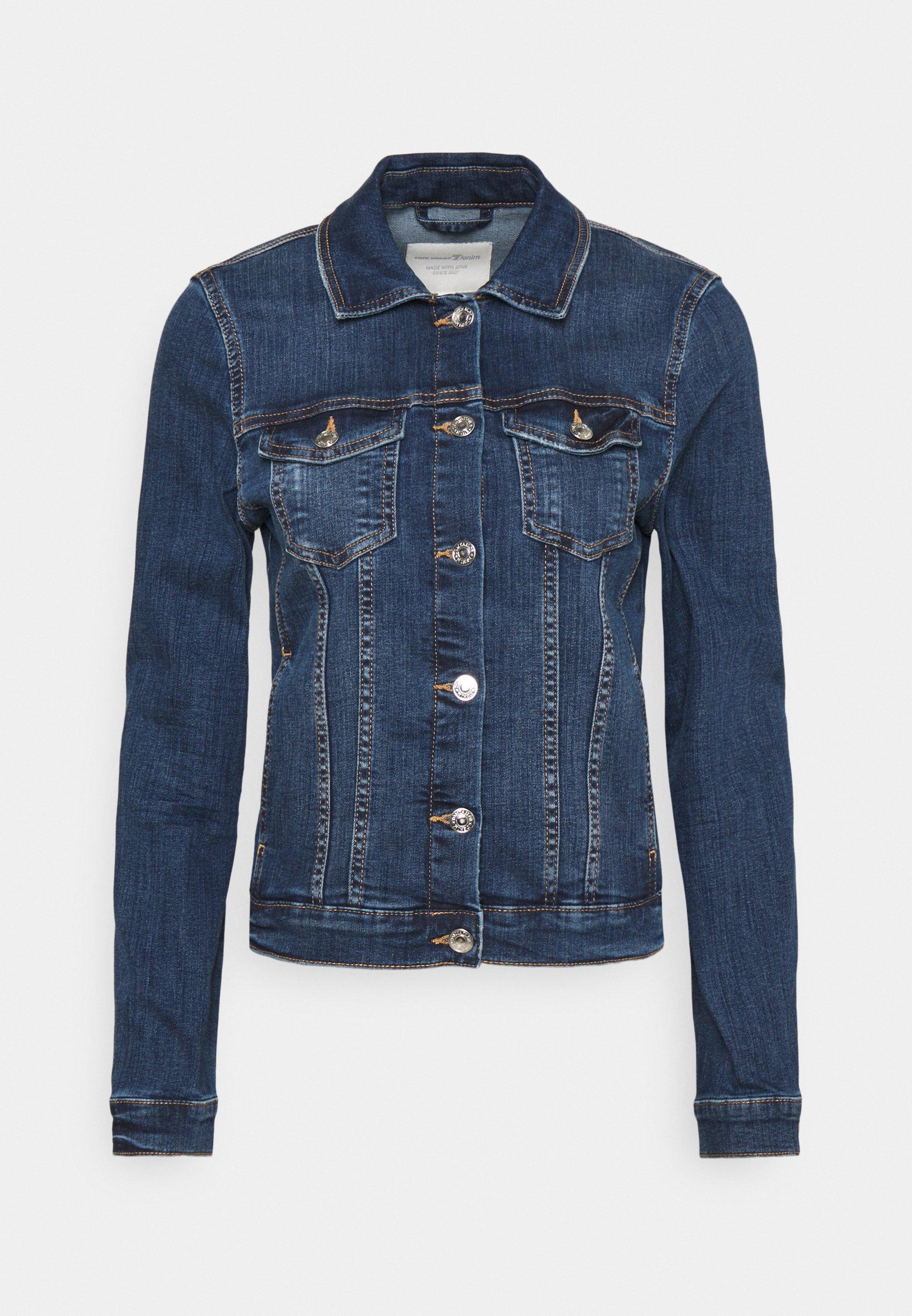 Ocassion Damen 2-Teiler Jeansjacke Röhrenhose Jeansanzug Blazer Blau Weiß XS-L