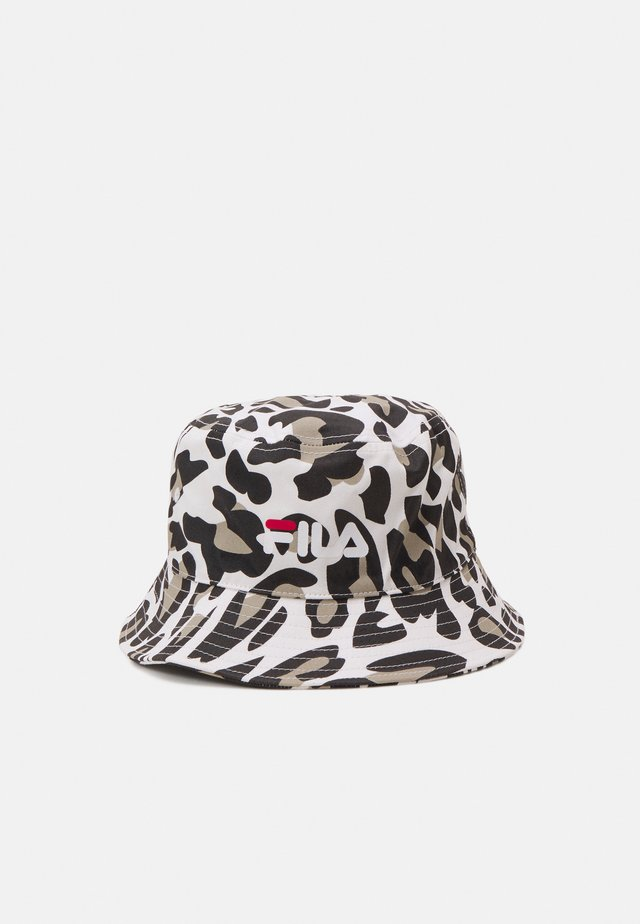 PRINTED BUCKET HAT LEO UNISEX - Hatt - white/brown