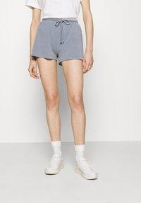 American Vintage - VEGIFLOWER - Shorts - bleu gris - 0