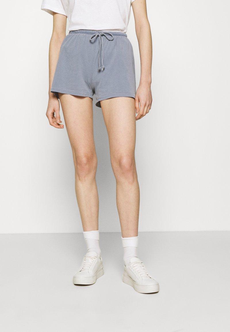 American Vintage - VEGIFLOWER - Shorts - bleu gris