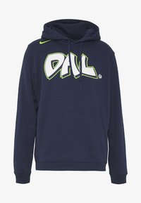 Nike Performance - NBA DALLAS MAVERICKS CITY EDITION LOGO HOODIE - Club wear - college navy - 4