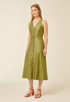 Cocktail dress / Party dress - leaf green